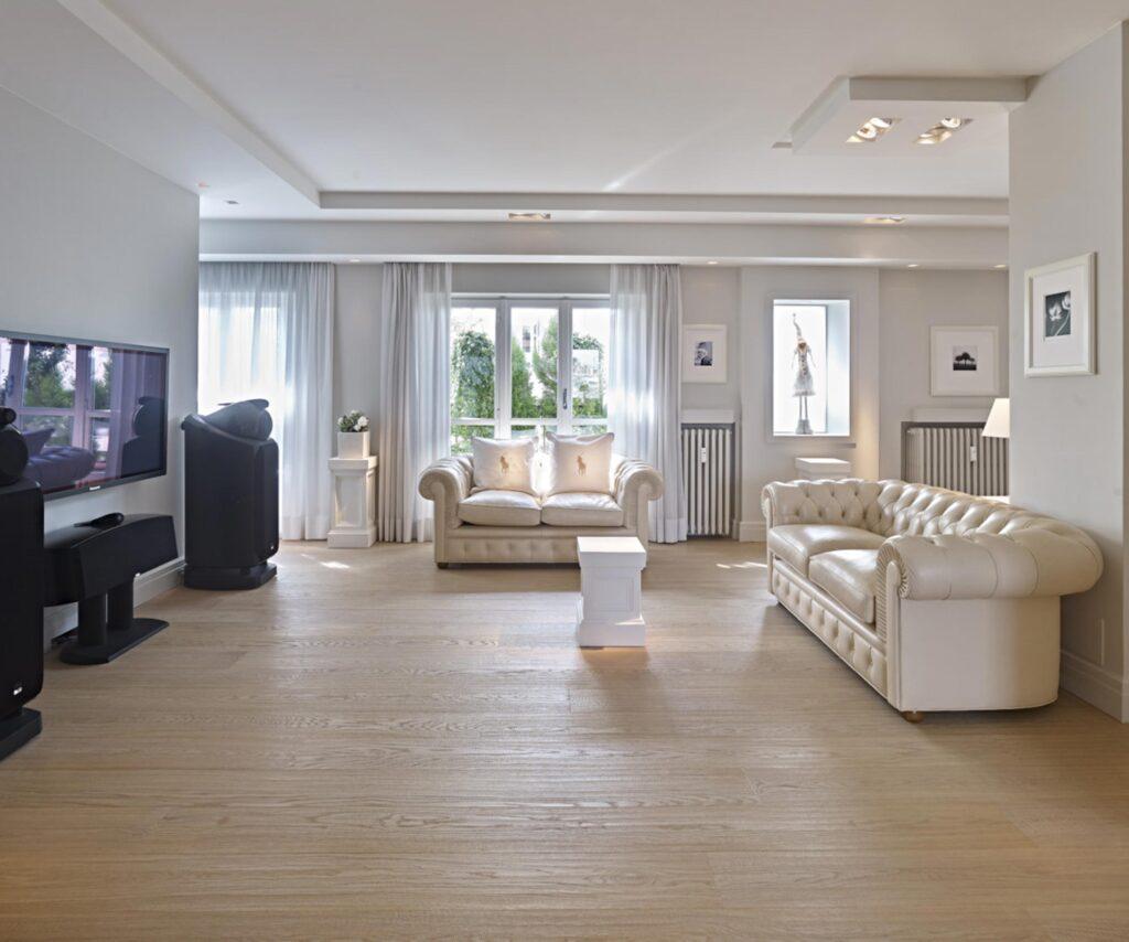 pavimento in legno sbiancato